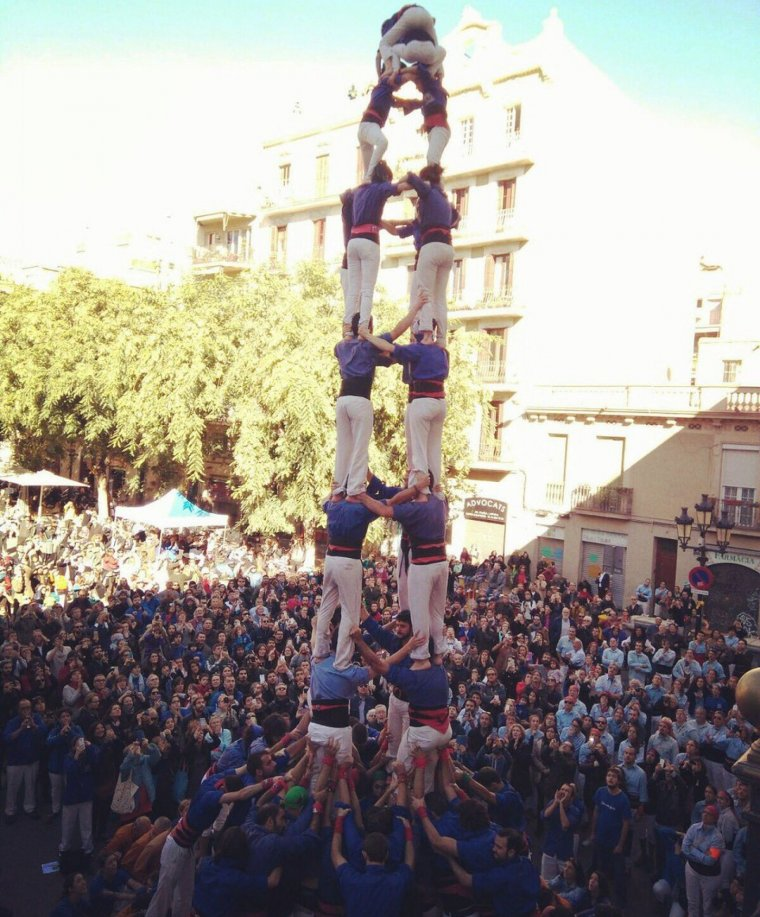El 4d9f ha estat el castell més destacat de la Diada dels Castellers de la Vila de Gràcia.