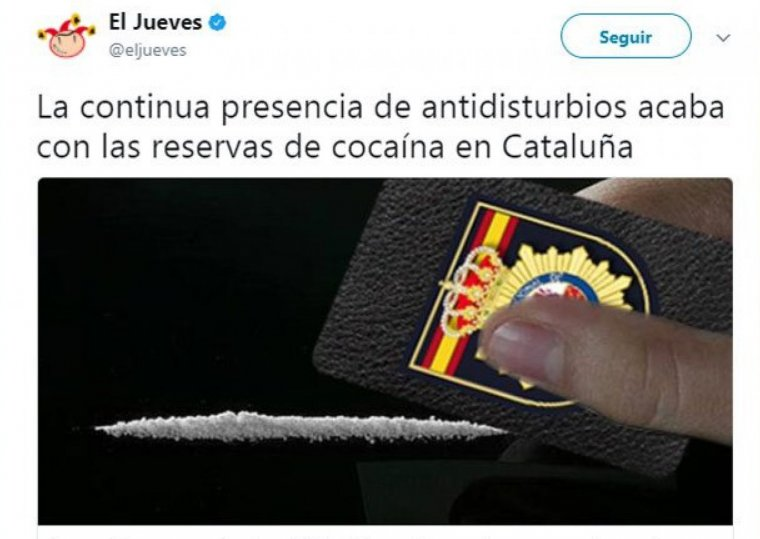 'El Jueves' cocaïna