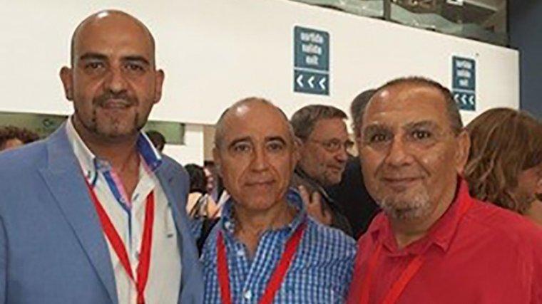 Els tres regidors del PSC a l'Ajuntament de Torredembarra