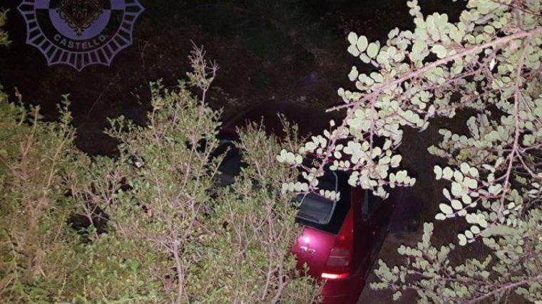 Imatge de com va quedar el cotxe després de l'accident