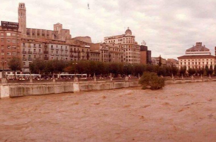 Imatge de la riuada a Lleida