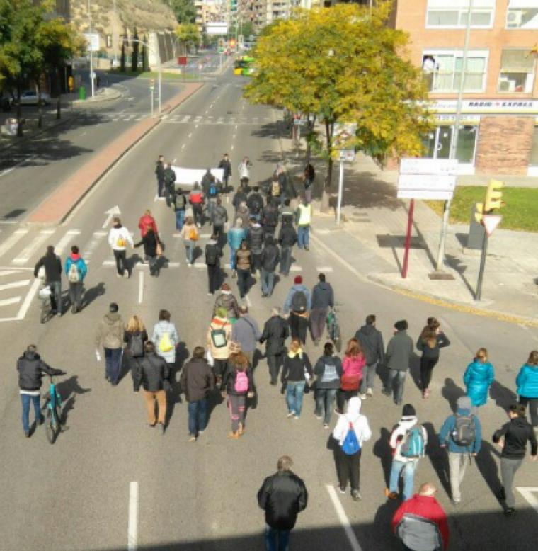 Piquets pel pont dels Instituts de Lleida