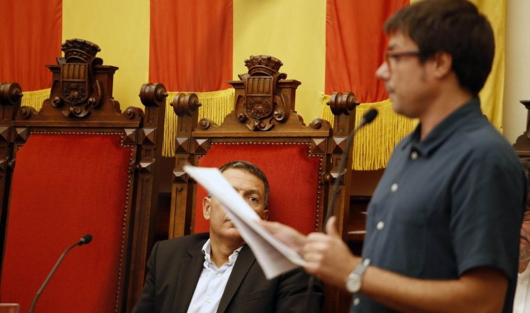 Xavi Matilla amb Miquel Sàmper al fons