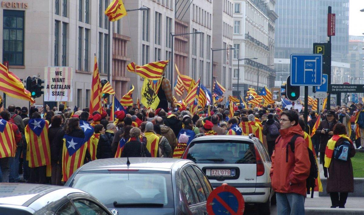 Manifestació a Brussel·les el 7 de setembre de 2009