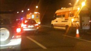 Accident a la ronda de dalt a Barcelona