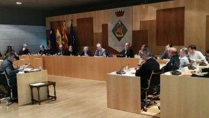 El ple municipal de Salou, en la sessió d'aquest dilluns.