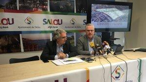 El regidor d'Urbanisme, Marc Montagut, i l'alcalde de Salou, Pere Granados.
