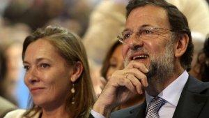 Imagen de Rajoy junto a su esposa Elvira.