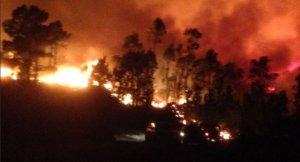 Imagen del incendio que se ha iniciado esta madrugada.