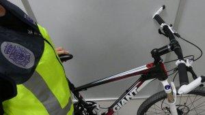 Imatge de la bicicleta furtada