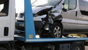 Imatge de la furgoneta implicada en l'accident d'Amposta.