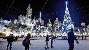 Imatge de la pista de gel de l'Ajuntament de València