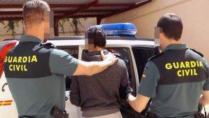 L'home detingut per la Guàrdia Civil