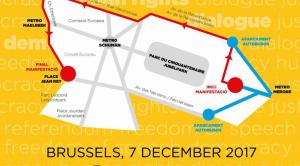 Mapa del recorregut de la manifestació