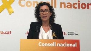 Marta Rovira al Consell Nacional d'ERC celebrat aquest dissabte 4 de novembre