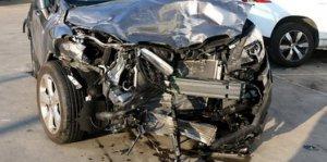 Un dels quatre cotxes implicats en l'accident mortal a l'AP-7
