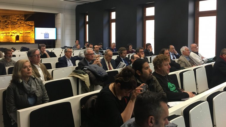 El públic assistent a les jornades on s'ha presentat el projecte.