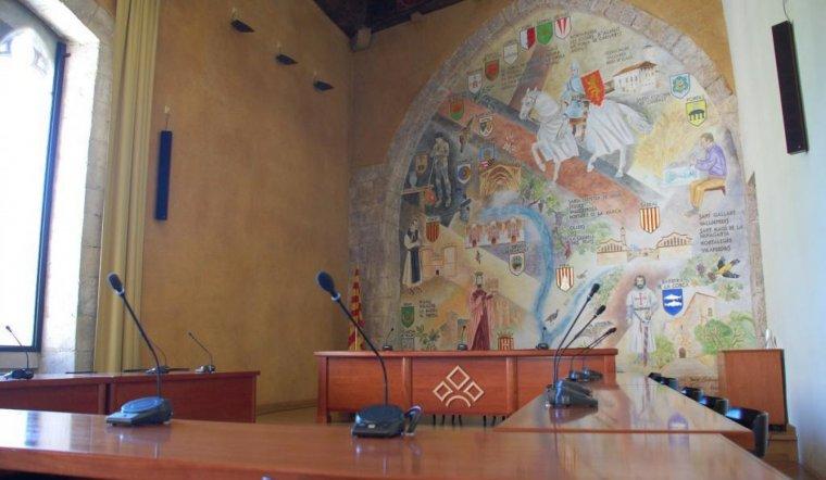 Imatge d'arxiu de la Sala Noble del Consell Comarcal de la Conca de Barberà.