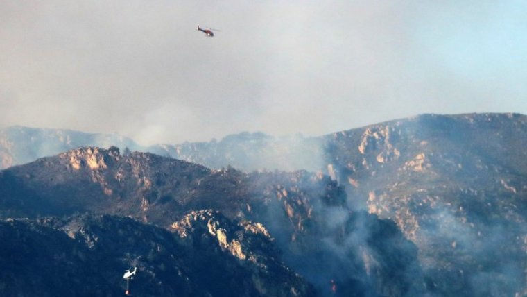 Imatge d'un incendi d'aquest mateix any a la serra de Cardó