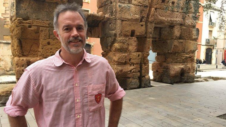 Sergi Feijoo, cap de colla dels Xiquets de Tarragona.