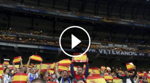 El Bernabéu ha reivindicat l'unitat d'Espanya en el partit del Madrid contra l'Espanyol