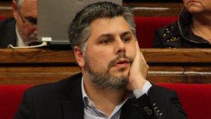 El diputat de CiU Albert Batet durant un ple al Parlament de Catalunya.