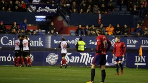 El Nàstic, celebrant en la distància el gran gol de Manu Barreiro en la primera meitat