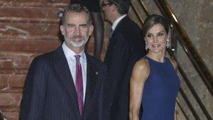 El rey Felipe y la reina Letizia en el concierto previo a los Premios Princesa de Asturias