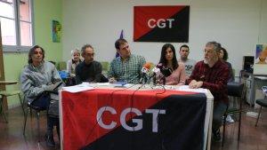 El sindicat CGT ha tornat a posat el crit al cel amb una roda de premsa reivindicativa