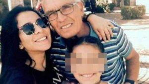 Imagen de Jennifer, Esteban y la nieta de la víctima.