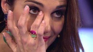 Imagen de Paula Echevarría durante el programa de Telecinco.