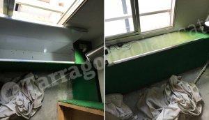 Imatge de l'interior de la casa, on es va amagar l'agressor de la jove alliberada.