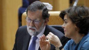 Imatge de Mariano Rajoy al Senat.