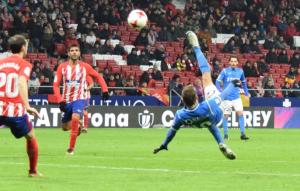 Imatge del partit de l'Atlètic de Madrid contra el Lleida Esportiu