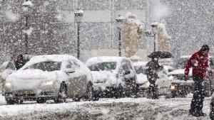 Intensa nevada en la ciudad de Burgos