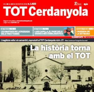 La portada del TOT Cerdanyola 1522