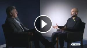 Pep Guardiola, durant una entrevista a Anglaterra.