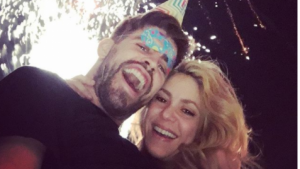 Piqué i Shakira celebrant el cap d'any