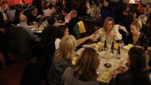 Una imatge del sopar groc celebrat fa uns dies a Barcelona.