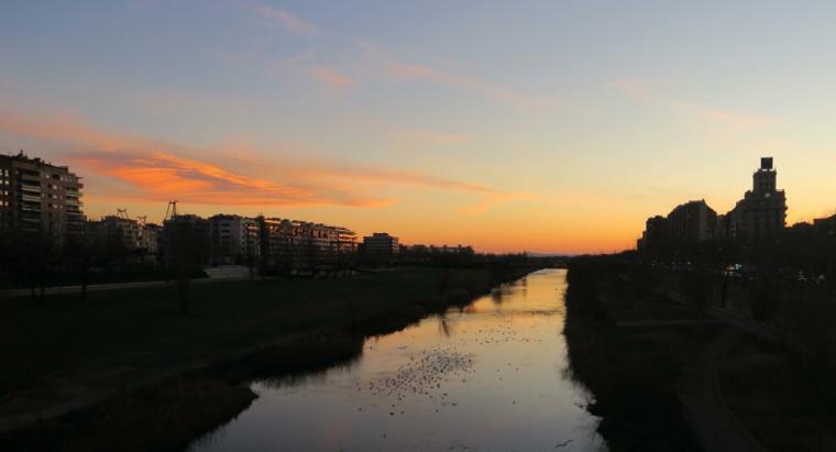 El riu Segre al vespre