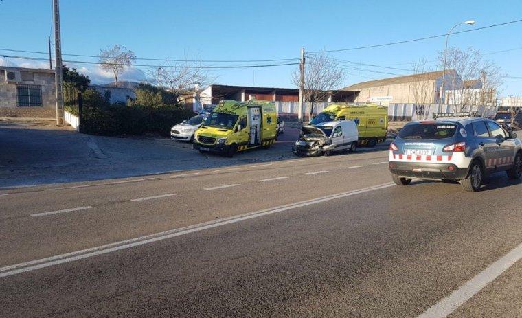 Imatge de l'accident, a la C-14z, entrant a Reus.