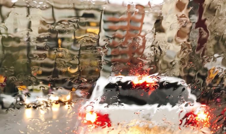 Imatge del dia de pluja a Lleida