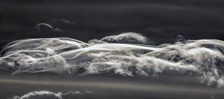 Imatge dels núvols 'fantasma' a Esterri d'Àneu