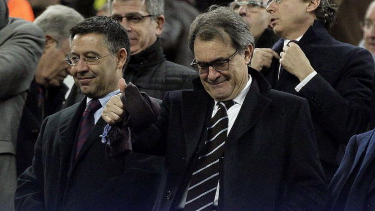 Mas i Bartomeu, a la llotja del Barça