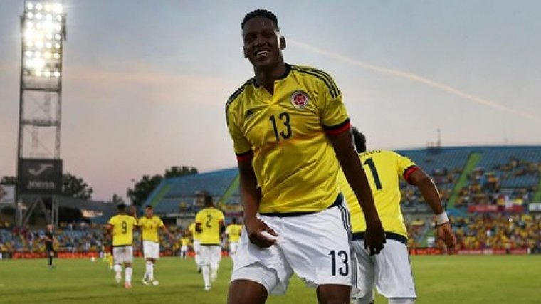 Yerry Mina, amb la samarreta de Colòmbia