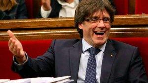 Carles Puigdemont, al Parlament de Catalunya
