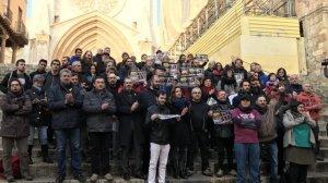 Concentració a les escales de la Catedral de Tarragona