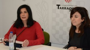 Consellera Ana Santos i Elena Gavaldà, responsable del Club dels Tarraconins