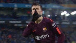 Gerard Piqué celebrant el gol