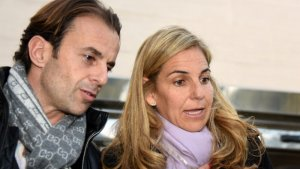 Imagen de archivo de Arantxa Sánchez Vicario y su marido  Josep Santacana